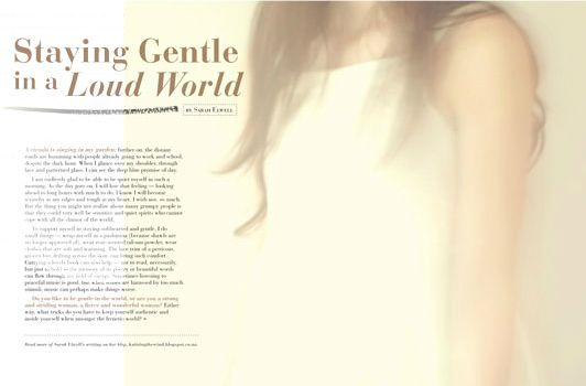 """Staying Gentle in a Loud World"" from Bella Grace Issue 4"