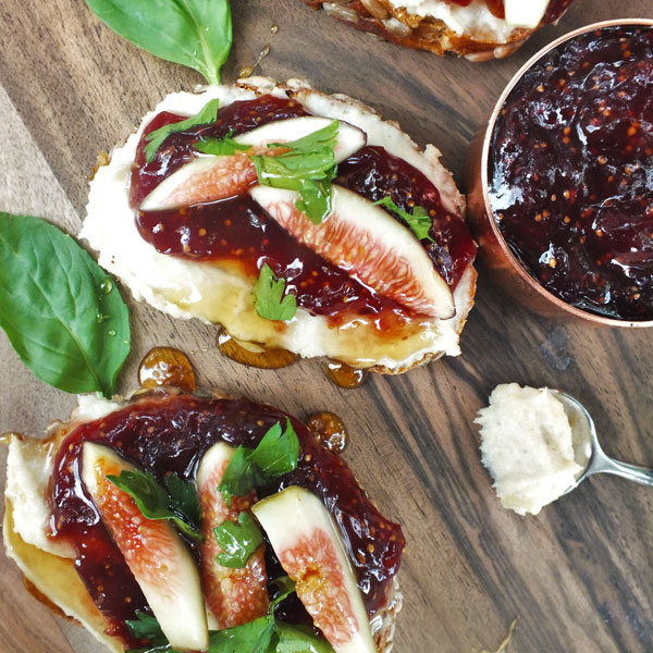 Grace Notes | A Summer Recipe: Fig Bruschetta with Cashew Ricotta